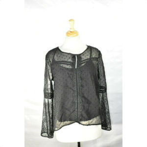 SELFIE Womens 2fer Blouse - Top, Size S, Lace, NwT